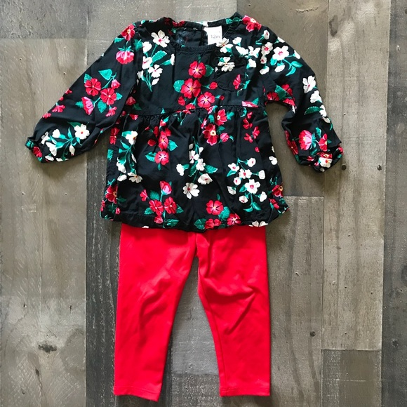 e7ba4ebc4af3 Carters and Okie Dokie Matching Sets | Baby Girls 12 Month Floral ...